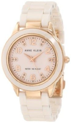12ccefb6933 Relógio Anne Klein Women s 10 9344RGLP Ceramic Rose-Tone and Light Pink  Ceramic Watch