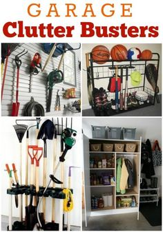 Organize your Garage- Clutter Buster Tips