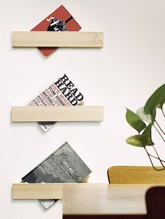 foreword - A minimal, single-serve shelf, Foreword keeps your favourite title within reach. Hang just one or in multiples.