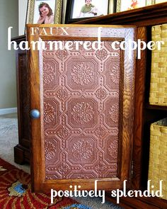 Faux Hammered Copper Tutorial