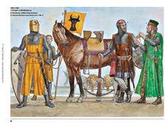 Gerry Embleton - warriors in the service of the Teutonic Hansa, 1250-1300. - Gerry Embleton - Guerreros al servicio de la Hansa Teutónica, 1250-1300.