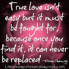 True love is worth fighting for