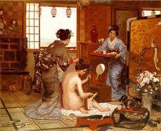 Marie Franсois Firmin Girard, The Japanese Toilette, 1873
