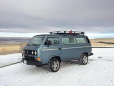 Many Vanagon owners install roof racks on their ride to help carry extra equipment.  Some owners go for the simple approach, while others go for large baske