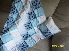 Rag Quilts for a baby boy.~