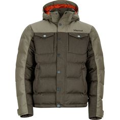 Marmot Men's Fordham Down Jacket, Size: Large, Deep Olive Best Winter Jackets, Winter Coats, Cold Front, Rugged Look, Outdoor Wear, Down Parka, Jackets Online, Canada Goose Jackets, Mens Fashion