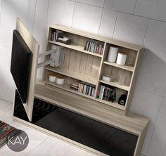 La colección KAY de BaixModuls ofrece una cuidada selección de paneles giratorios para ver la televisión desde diferentes puntos del salón. TE SORPRENDERAN