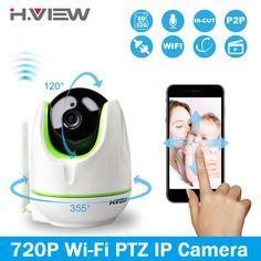 H.View WiFi Wireless 720P IP Camera WiFi IP Camera Two Way Audio Baby Monitor Pan Tilt Security Camera Easy QR CODE Scan Connect #jewelry, #women, #men, #hats, #watches