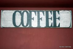 Primitive Sign COFFEE by RedBarnGatherings on Etsy