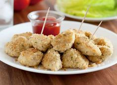 Baked Chicken Nuggets: These chicken nuggets that are perfectly golden, full of flavour and deliciously crisp without being fried. I love how healthier things can actually taste better than the less healthy options. | LocalParent courtesy Cooking Classy