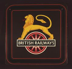 The coat of arms of British Railways, by . SSPL Science and Society Picture Library Rr Logo, Rail Transport, Steam Railway, Railway Posters, British Rail, Steam Engine, Coat Of Arms, Nostalgia, Journey
