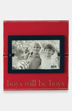 Mud Pie 'Boys Will Be Boys' Picture Frame available at #Nordstrom