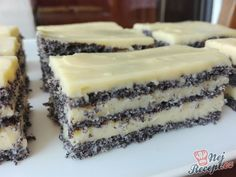 All Time Easy Cake : Delicious poppy seeds, Oreo Desserts, Pudding Desserts, Delicious Desserts, Sweet Recipes, Cake Recipes, Dessert Recipes, Vegetarian Sweets, Czech Recipes, Popular Recipes