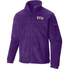 Columbia Sportswear Men's Texas Christian University Flanker Full Zip Fleece (Purple, Size Medium) - NCAA Licensed Product, NCAA Men's Fleece/Jacke...