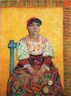 Italian Woman-  Vincent Van Gogh, 1887