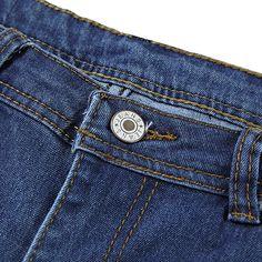 Fensajomon Men Stretch Moto Biker Regular Fit Ruched Ripped Distressed Jeans Denim Pants
