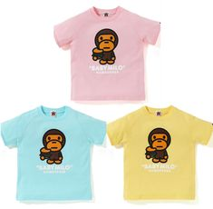71d7e7897 (eBay Sponsored) ** A BATHING APE BAPE KIDS BABY MILO HAMBURGER TEE 3colors