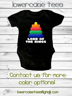 Baby Lord Of the Rings Inspired Onesie  5 sizes by lowercasetees, $19.00