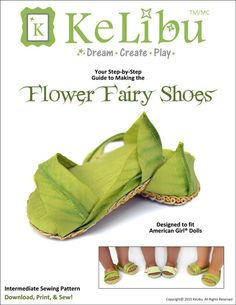 "FLOWER FAIRY SHOES 18"" DOLL SHOES"