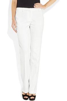 Burberry London|Straight-leg crepe pants|NET-A-PORTER.COM
