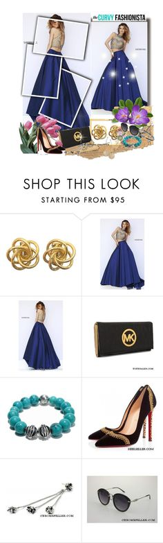 """""""Sherri Hill 32110 Beads Two Piece Girl Prom Dress"""" by evermissjody ❤ liked on Polyvore featuring Michael Kors, Chrome Hearts, Christian Louboutin, women's clothing, women's fashion, women, female, woman, misses and juniors"""