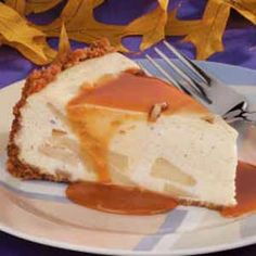 This apple cheesecake won the grand prize in an apple recipe contest. With caramel both on the bottom and over the top, every bite is sinfully delicious. Caramel Apple Cheesecake, Cheesecake Recipes, Caramel Apples, Apple Recipes, Sweets Recipes, Cooked Apples, Ice Cream Toppings, Graham Cracker Crumbs, Cheesecakes