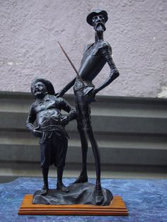 Quijote 1 by rick--hunter on DeviantArt Man Of La Mancha, Dom Quixote, Don Miguel, Great Novels, The Orator, Clay Figures, Chivalry, Sculpture Clay, New Art