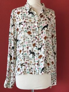 ZARA Collection Trafaluc Floral Crop Button Front Top Size L NWT NEW #Zara #CropTop