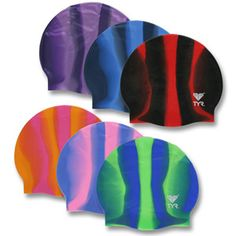 Creative Tonic loves swimming!  Silicone Swim Caps - Multi Colored by TYR