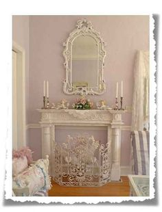 Love the mirror above the mantle!