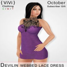 Second Life Freebies and more: Webbed Lace
