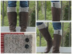 Crocheted Boot Cuff by RiverMountainCrochet on Etsy, $13.50