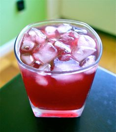 Pomegranate-Champagne Rum Punch