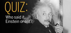 """""""God doesn't play dice."""" Did Einstein REALLY say that?   http://scim.ag/didhesaythat"""