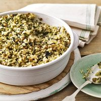 Curried Spinach and Lentil Bake