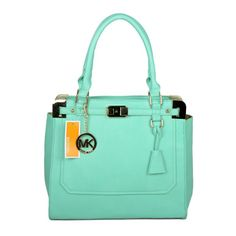 Michael Kors Pebbled Leather Large Green Satchels only $72.99