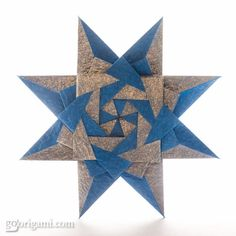 / braided corona star / by maria sinayskaya / instructions / go origami / Origami Mouse, Origami Yoda, Origami Star Box, Origami And Kirigami, Origami Dragon, Origami Fish, Origami Stars, Origami Flowers, Origami Paper