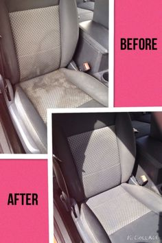 Clean the car seat with club soda/dawn/white vonegar mixture. Smart DIY tips and ideas to clean the home - 20 Cleaning Tips for Neat Freaks - One Crazy House