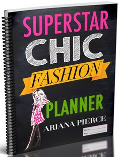 A planner created to help the blogger and fashionista stay organized, business savvy and productive! www.ArianaPierce.com