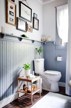 Bathroom wainscoting can be so useful not only enhance the look of the bathroom but if it installed with shelves, it can be addition storage space.