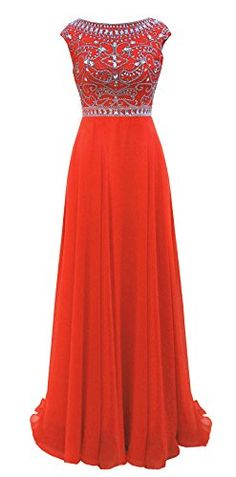 Promonline long prom dresses sequins beaded chiffon evening party * To view further for this item, visit the image link.