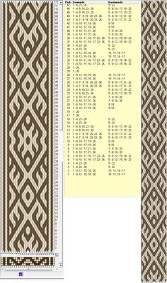 26 tarjetas, 2 colores, repite cada 72 movimientos // sed_318 diseñado en GTT༺❁