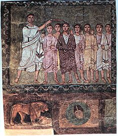 Samuel anoints David, Dura Europos, Syria, Date: 3rd century CE.  http://en.wikipedia.org/wiki/Messiah