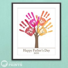 handprint tree.  Kids are too old for this now. Have to keep in back of mind. Maybe for Grandparents