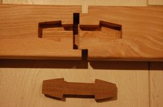japanese joinery chigiri tsugi on balustrade.... Craftpro router cutters cutters used for joints.... http://pinterest.com/woodfordtooling/craftpro-router-cutters/