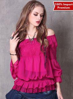 c8592a14ee4ad Blouse Sabrina   Atasan Import Premium Sabrina 596PR