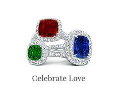 Angara Engagement Rings, Wedding Bands & Fine Gemstone Jewelry Gemstone Engagement Rings, Solitaire Ring, Gemstone Jewelry, Wedding Bands, Heart Ring, Jewelry Websites, Bling, Gemstones, Diamond