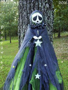 OOAK Primitive HALLOWEEN Folk Art Tattered Gothic Ghost Doll 45 ...