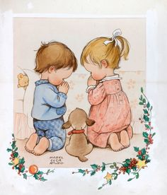 A CHRISTMAS PRAYER by MABEL LUCIE ATTWELL - original artwork for sale | Chris Beetles