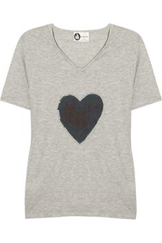 You know you've made it as a designer when you can charge $540 for  a tee  shirt!!! Wow....Lanvin | Appliquéd cotton-blend T-shirt | NET-A-PORTER.COM